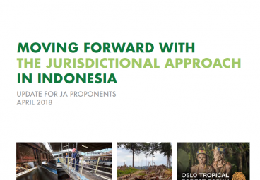 Moving Forward with the Jurisdictional Approach in Indonesia - April 2018 edition