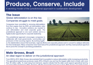 Produce, Conserve, Include: A Working Model of the Jurisdictional Approach to Sustainable Development